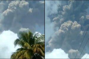 video La Soufriere volcano