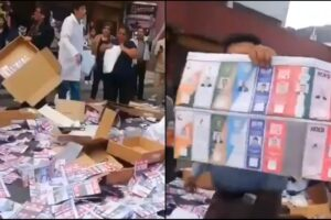 video Bolivia Evo Morales ballots van