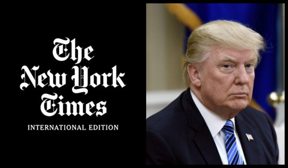 trump statement new york times story