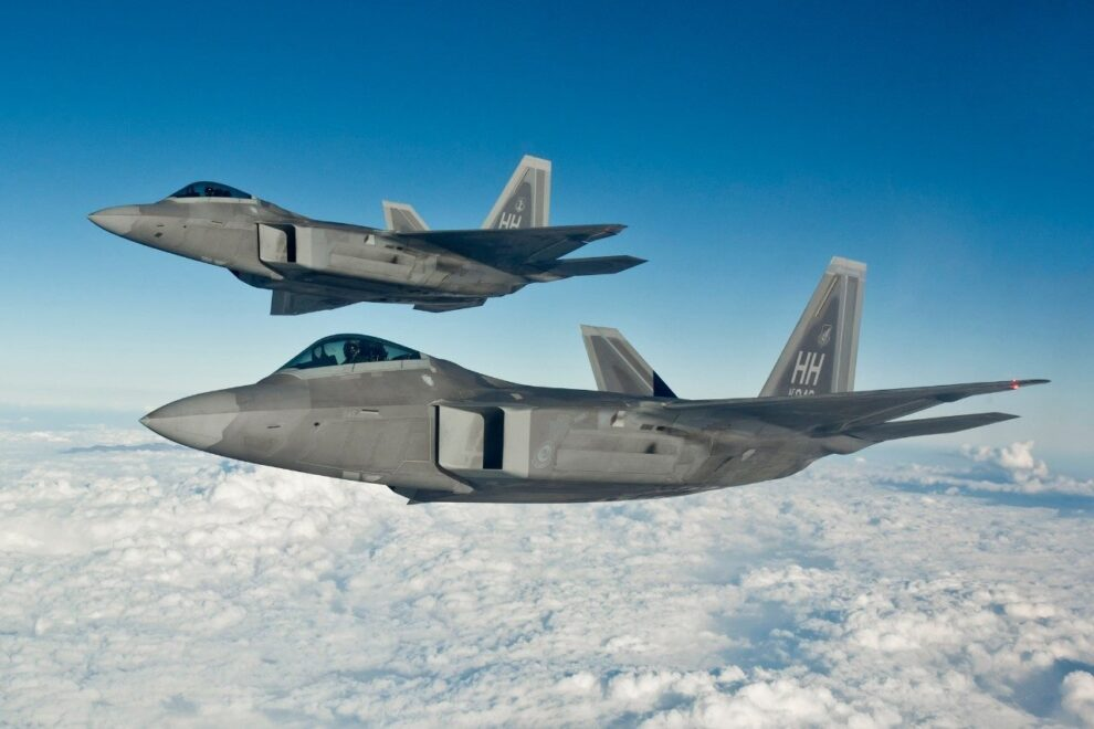 Two F-22 raptors dc