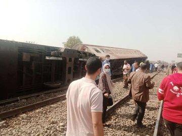 Egypt train derailed cairo banha