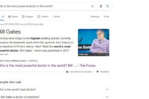 Who is the most powerful doctor in the world Bill gates