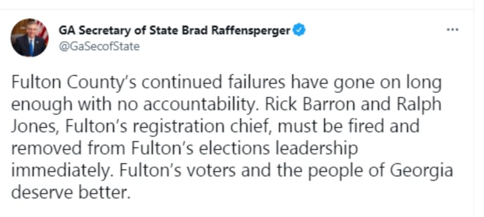 Brad Raffensperger Georgia state election officials