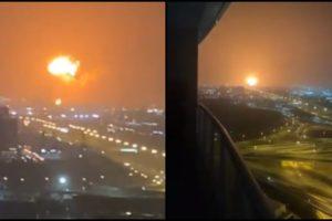 explosion dubai video