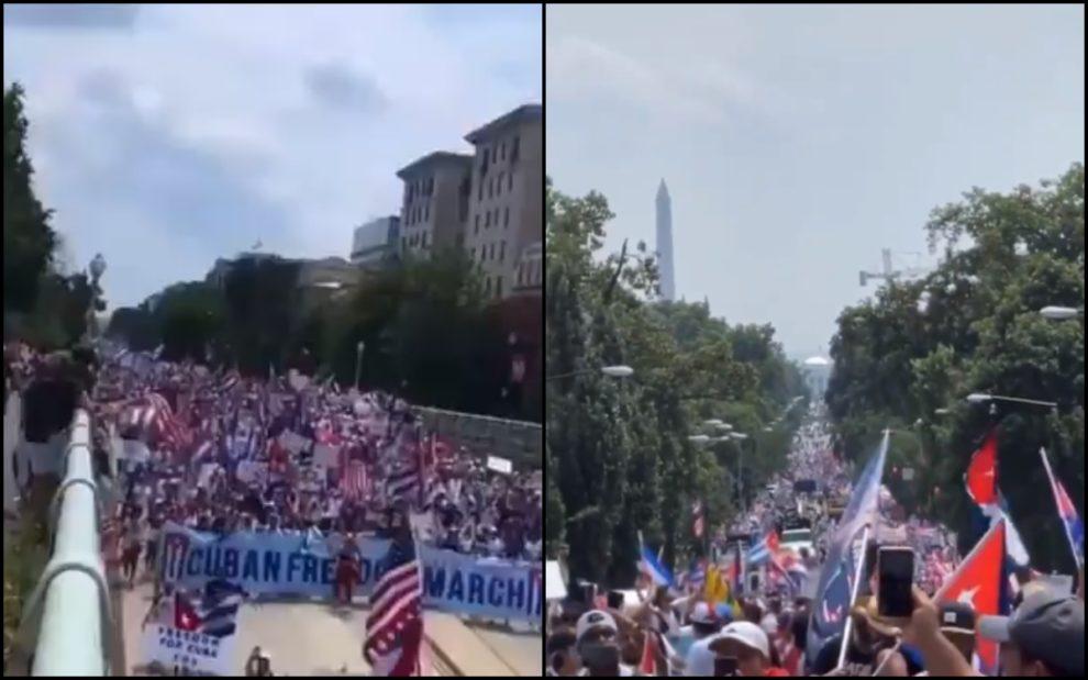 Cuba protest white house videos