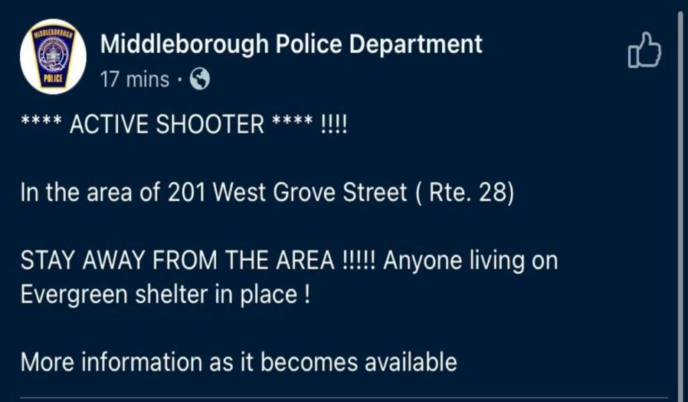 Active Shooter Middleborough