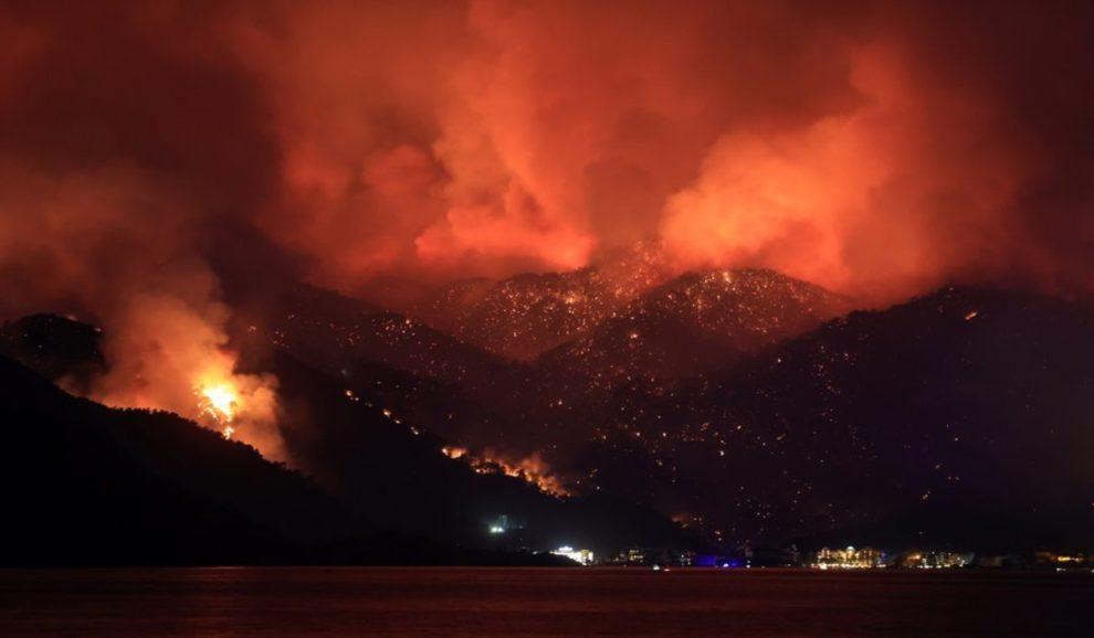 videos wildfire antalya