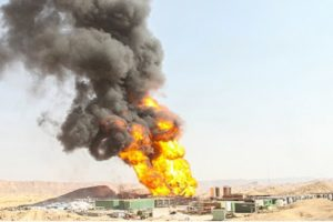 iran oil field Cheshmeh Khosh explosion