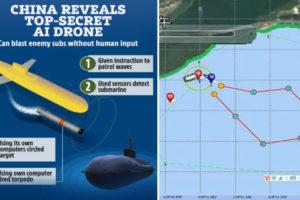 china ai drone underwater
