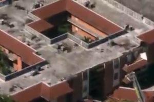 Apartment building roof collapse miami