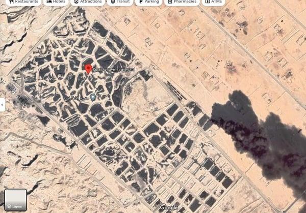Sulaibiya Tire graveyard fire Kuwait