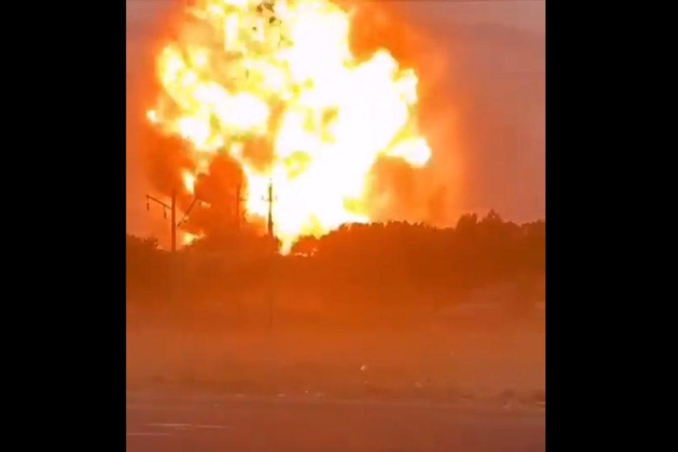 explosion military warehouse taraz kazakhstan