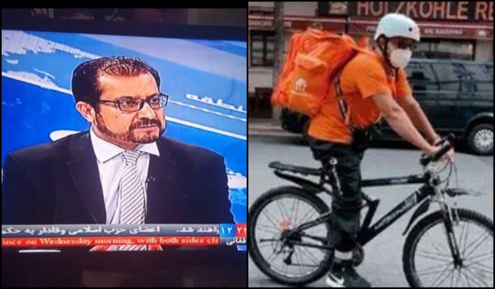 Afghanistan minister saadat delivering pizza germany