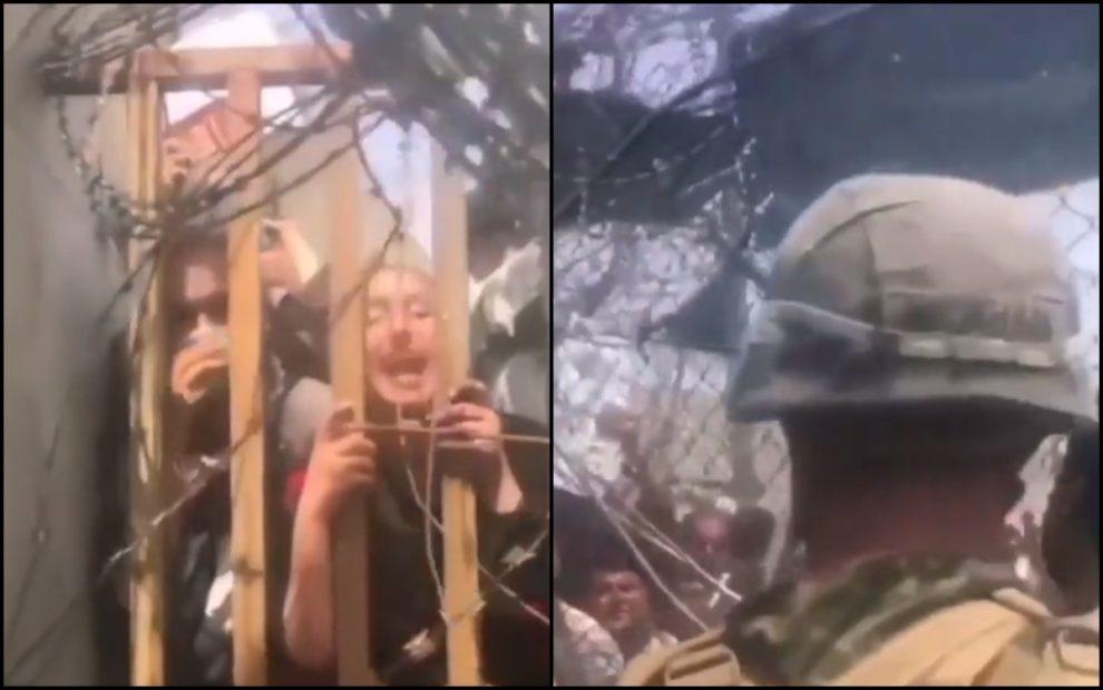 girl kabul airport video afghan women begging soldiers