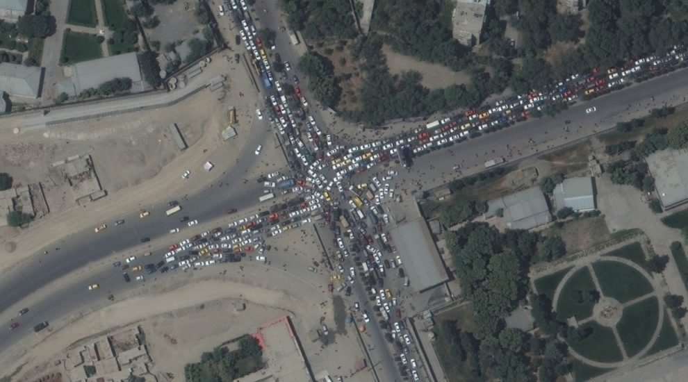 Maxar satellite photos Kabul Airport