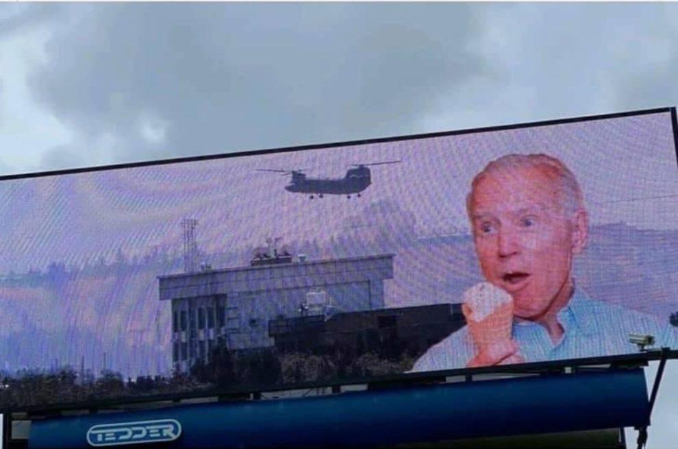 biden billboard Wilmington North Carolina