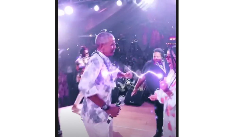 Obama 60th birthday party dancing video