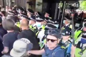 protest bbc television center london