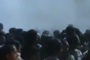 military tear gas kabul airport