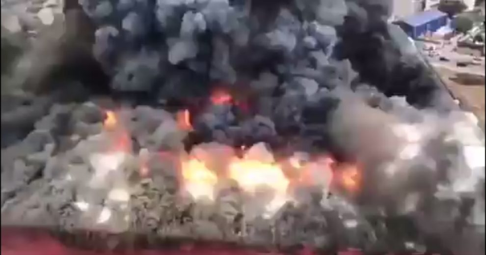 fire Istanbul Esenyurt district