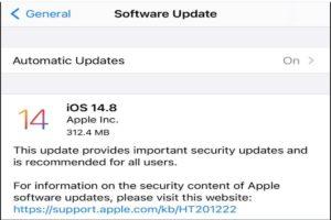 apple update iOS 14.8 NSO Group iPhone Zero-Click Exploit