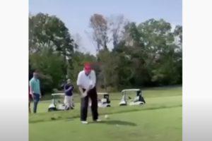 trump You think Biden can hit a ball like that golf