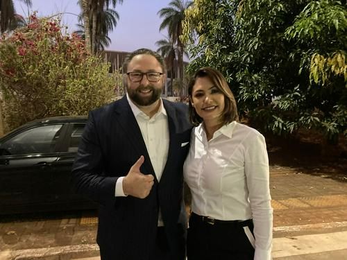 Jason Miller with Brazil President's Wife