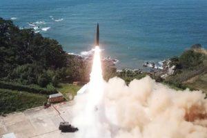 North Korea railway-borne missile system