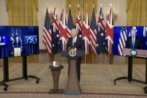 france stabbed in the back US UK Australia submarine deal