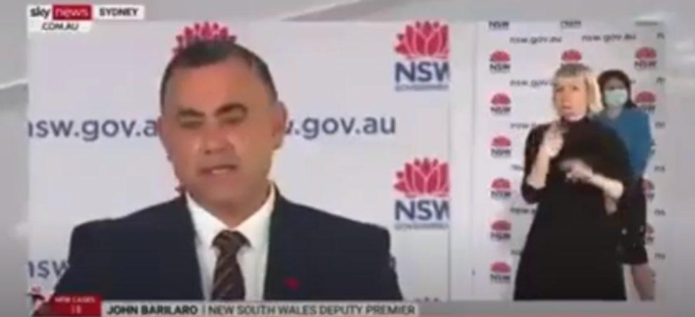 John Barilaro Unvaccinated lose freedoms NSW