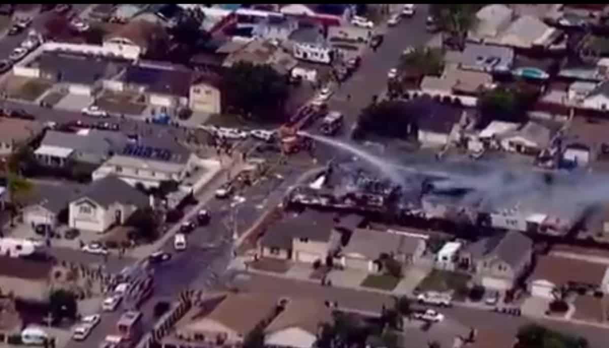 video plane crashed santee