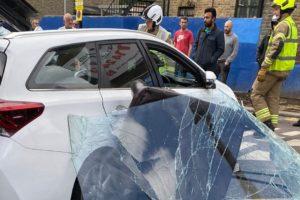Walthamstow barber shop car crash