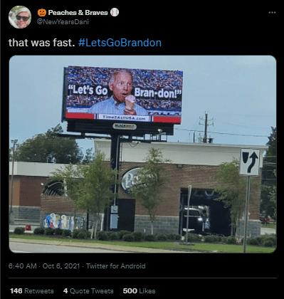 Let's go brandon billboard